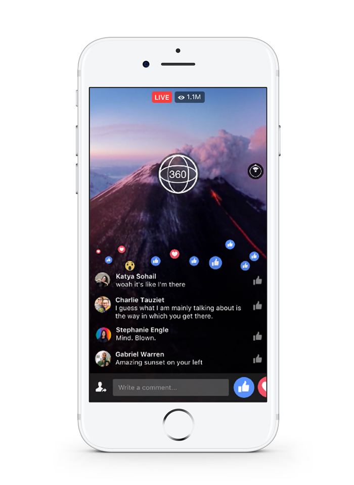 Mstream facebook live 360